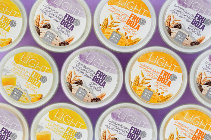 Individual Low-Calorie Ice Creams