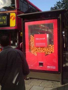 Fruit Dispensing Bus Stops Pruhealth Campaign