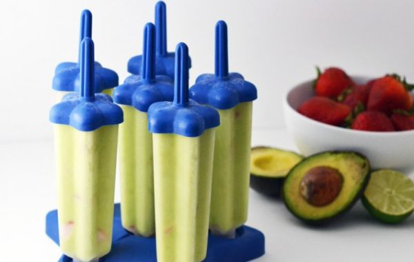 Boozy Avocado Popsicles