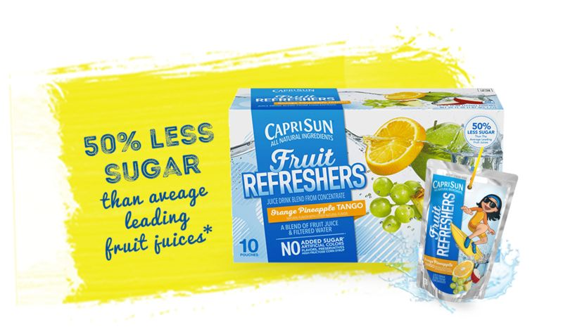 Reduced-Sugar Fruit Juices