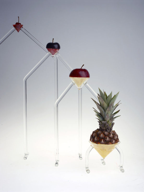 Fruit-Displaying Glass Sculptures