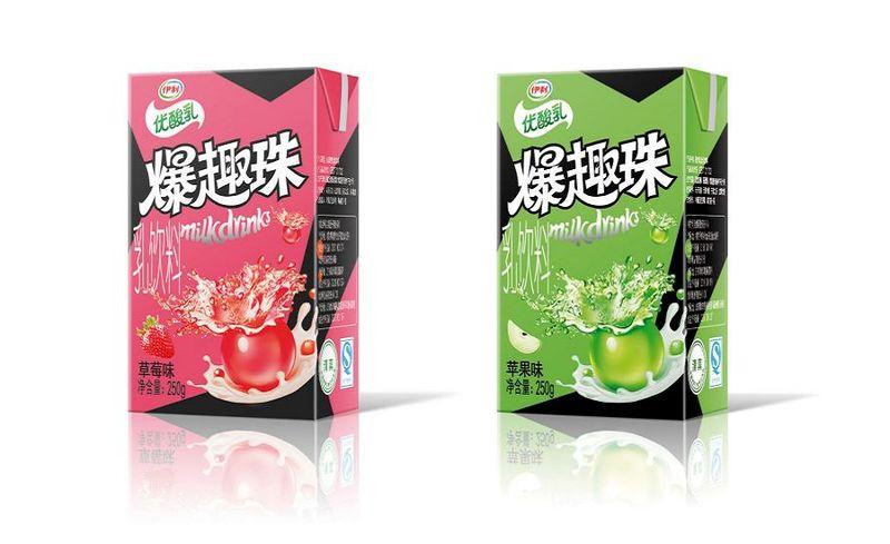 Juice-Infused Yogurt Drinks