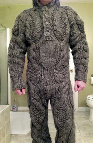 Knitting Women S Work : Adult knit onesies full body sweater