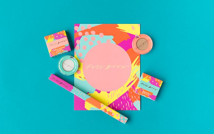 Chromatic 80s Makeup Branding