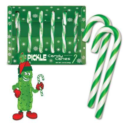 Dill-Flavored Candy Canes