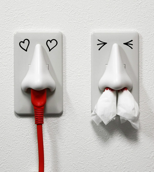 Schnoz-Shaped Plug Outlets
