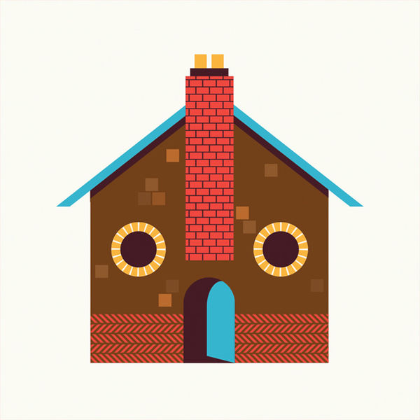 colorful smiling house illustrations fun illustration
