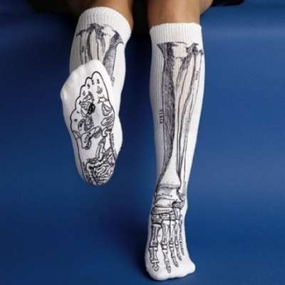 Bone-Revealing Socks