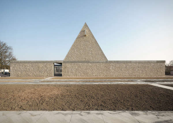 Bayer Strobel solemn pyramid chapels funeral chapel by bayer strobel architekten