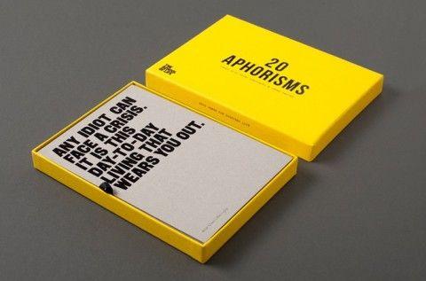 Amusingly Awkward Aphorism Cards