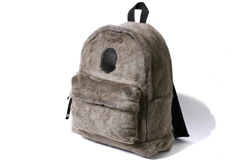 Streetwear-Branded Fur Backpacks