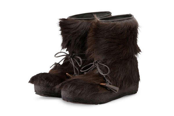Furry Masculine Footwear