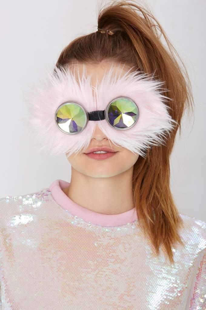 Faux Fur Sunglasses