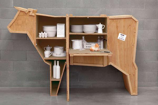 Animal-Shaped Crate Storage - Stackable Minimalist Bookshelves : Creative Bookshelf