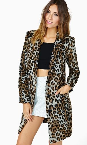 Luxurious Leopard-Print Outerwear