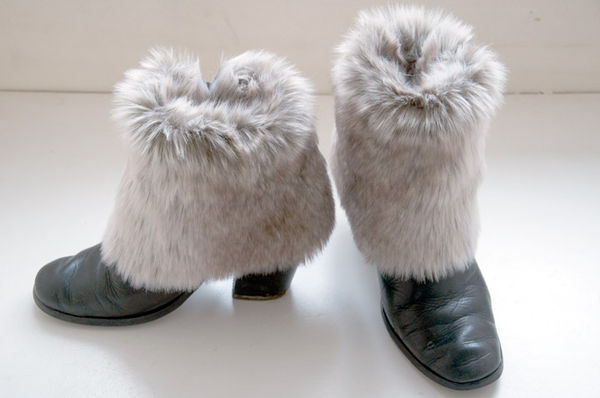 Furry DIY Shoe Accents