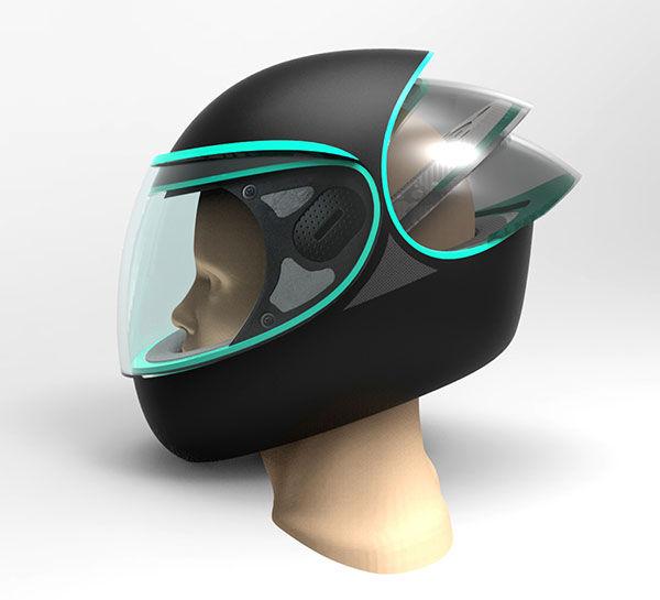 Futuristic Motorcycle Helmets