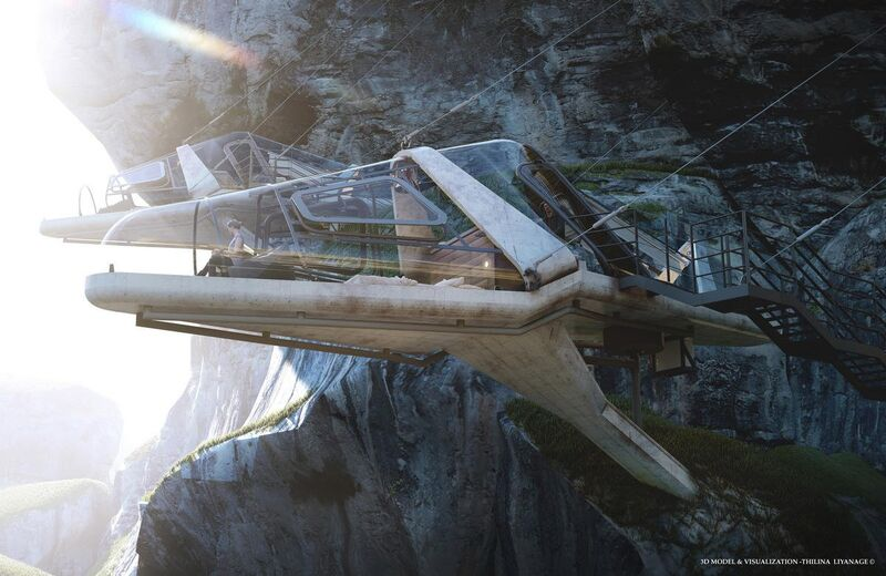 Suspended Cockpit-Inspired Cabins