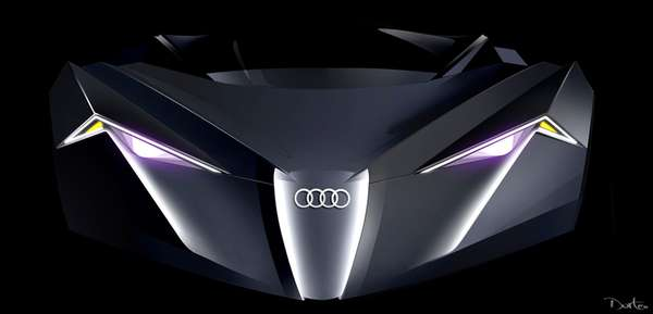 Illuminated Cars Of The Future Audi AKIMONO LS Design Emerges - Audi future cars