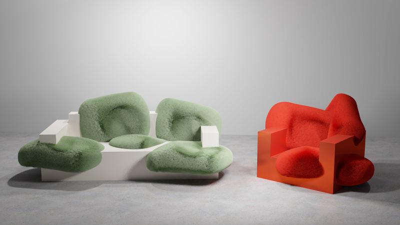 Irregular Fuzzy Chair Designs