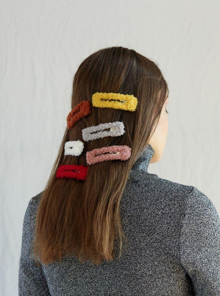 Fuzzy Hair Clip Accessories