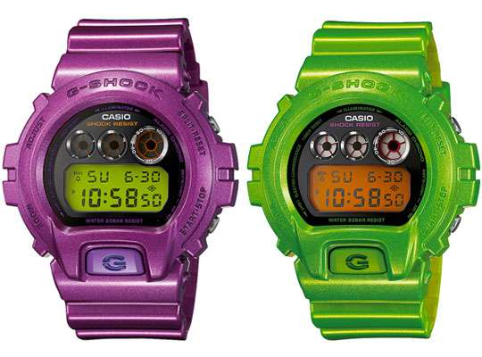 Colorful Metallic Timepieces