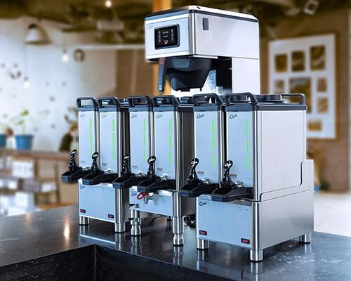 Space-Saving Retail Coffee Makers