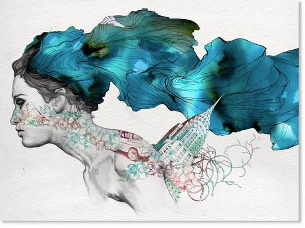 surreal watercolor illustrations gabriel moreno
