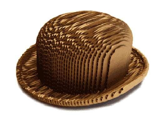 Cardboard Bowler Hats : Gabriela Ligenza
