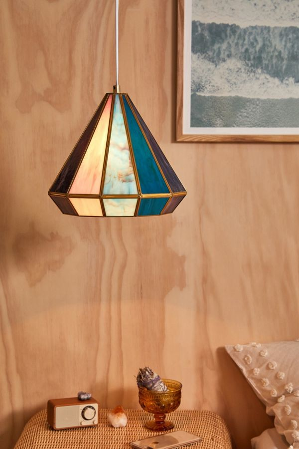 Stained Glass Pyramid Lights