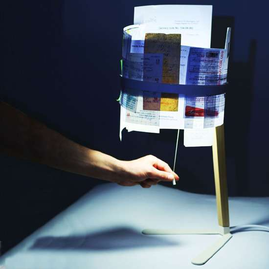 Recycled Paper Lamps