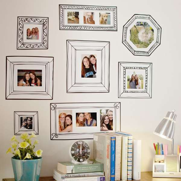 Faux Picture Frame Adornments