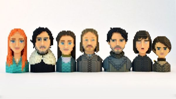 Pixelated Fantasy Show Characters