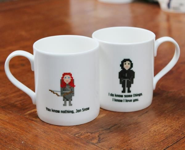 8-Bit Fantasy Character Cups
