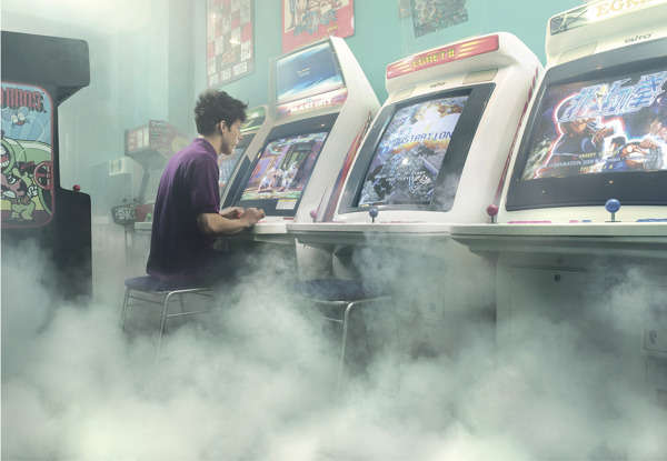 Foggy Arcade Photography
