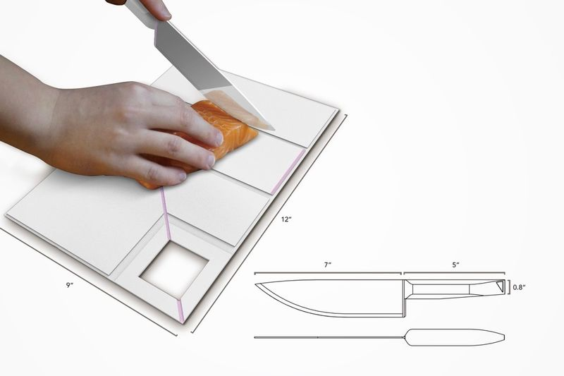 Origami-Inspired Cutting Boards