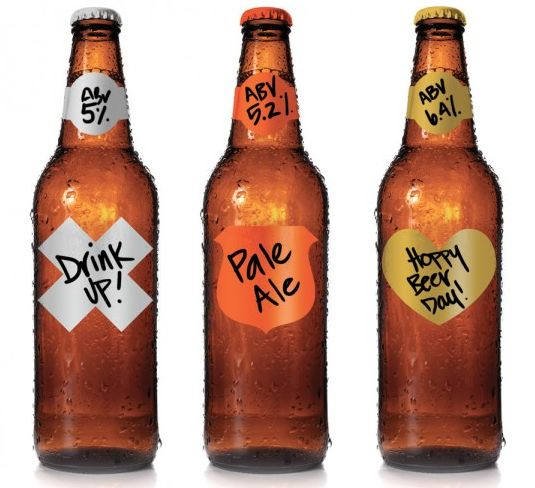 Dry-Erase Drink Stickers