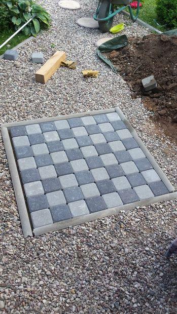 Gigantic Garden Chessboards