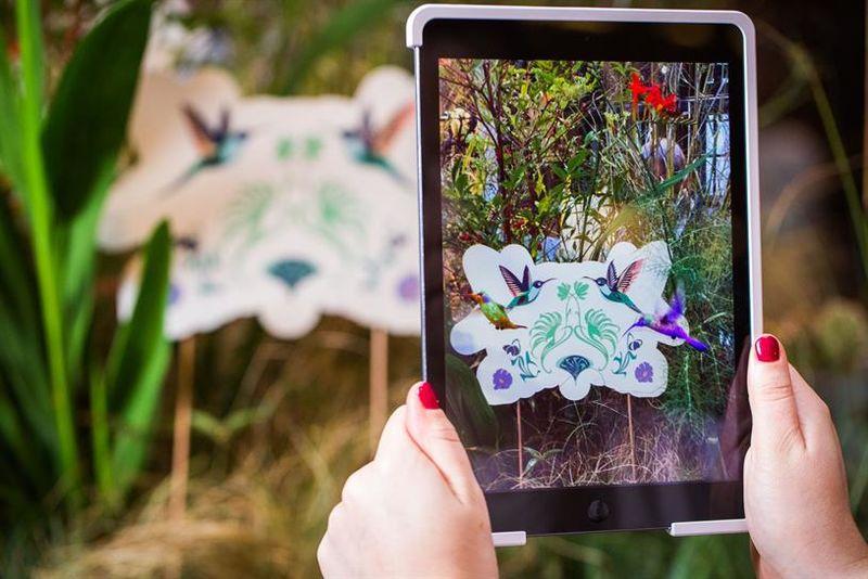Interactive AR Gardens