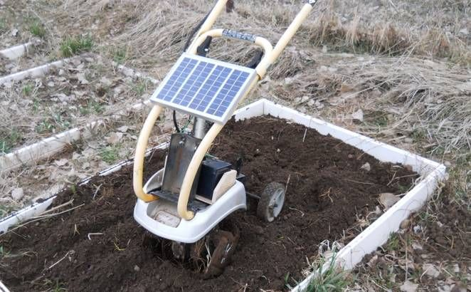 Solar-Powered Garden Tillers
