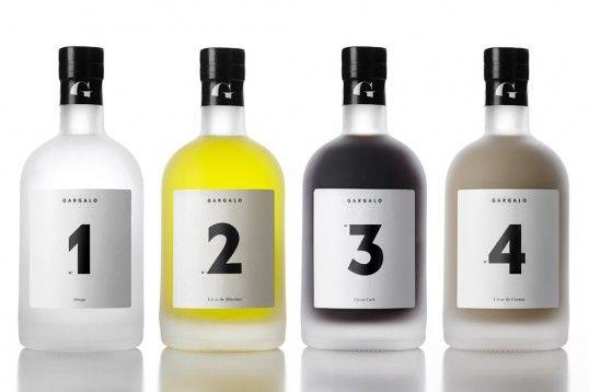 Numeric Liqueur Bottles