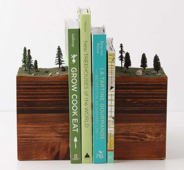 Sculptural Earth Book Stands