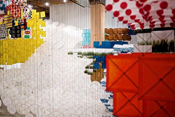 Kaleidoscopic Kite Installations