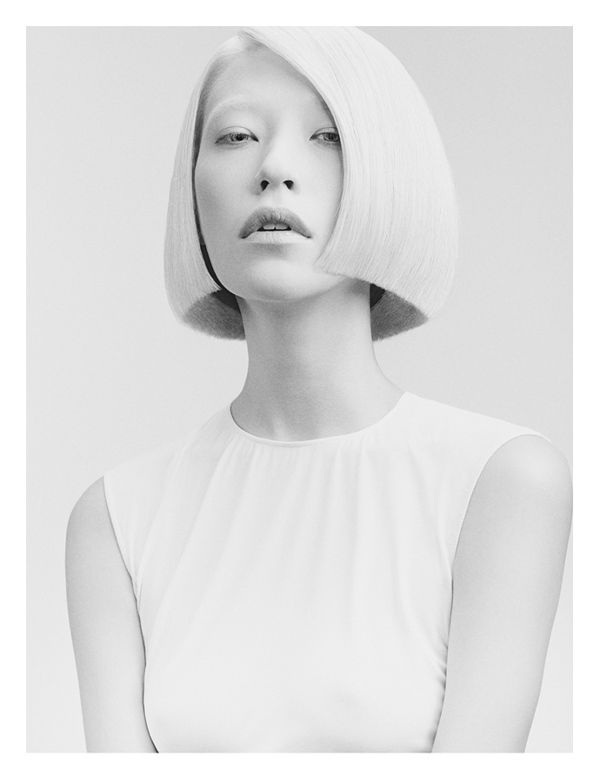 Minimalist Hairstyle Ads