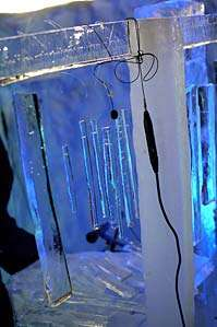 Playing Instruments Made of Ice
