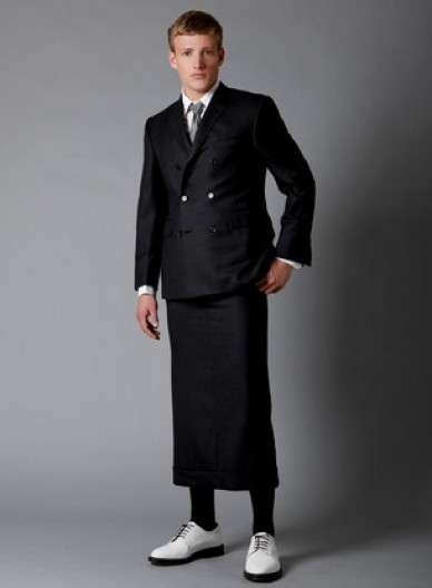 Manskirt Suits: Gender-Bending Business Suits by Thom Browne