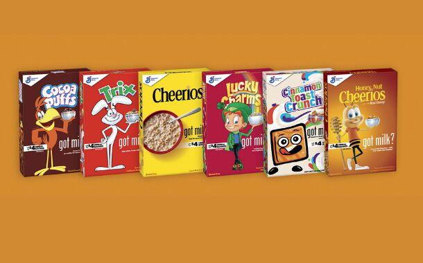 Milk Mustache Cereal Branding