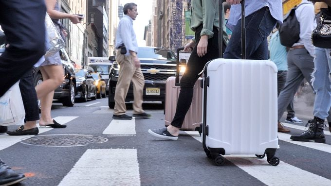 Durable Device-Charging Luggage