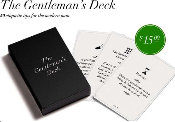 Etiquette Playing Cards