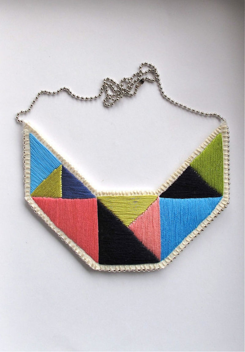 Geometric Embroidered Jewelry